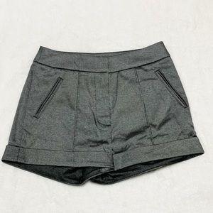 NWT Bebe Pintuck & Cuff Donna Shorts Black/Grey